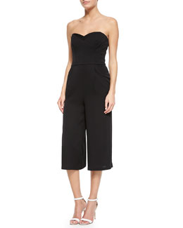 Strapless Silk Stretch Jumpsuit