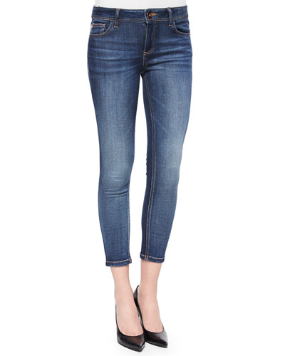 Florence Faded Cropped Skinny Jeans