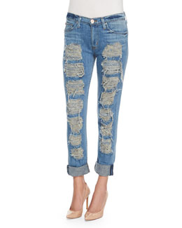 Melissa Distressed Cropped Slim-Fit Jeans, City Kid 2