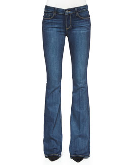 Skyline Mid-Rise Boot-Cut Denim Jeans, Vista