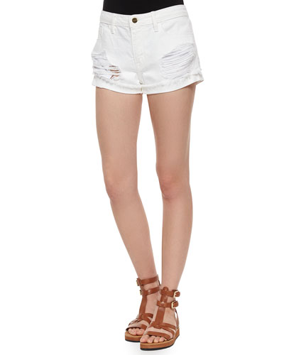 Le Grand Garcon Distressed Shorts, Wimbledon