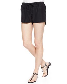 Le Jogger Silk Shorts, Noir