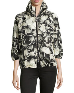 Teulie Hooded Floral Jacket