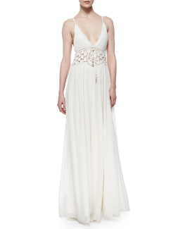 Sasina Knit Maxi Dress, Coconut