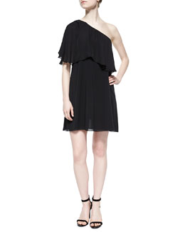 Ruth One-Shoulder Flutter Dress