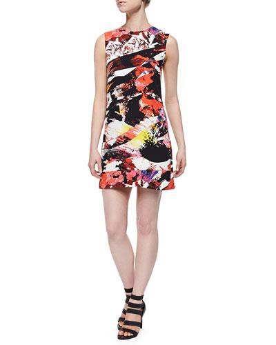 Mineral Printed Straight Sleeveless Dress