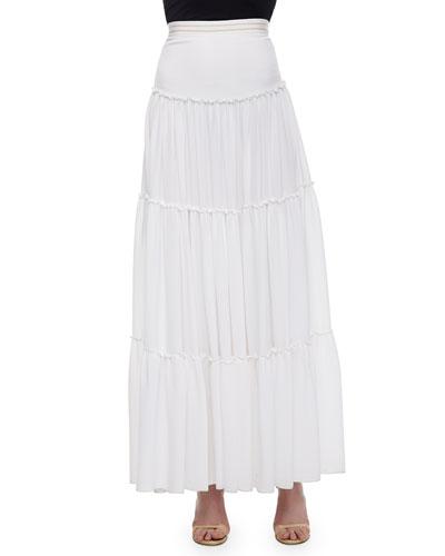 Isobel Ruffled Tier Skirt, White