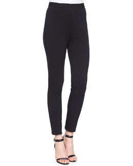 Seamed Double-Knit Leggings