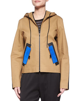 Water-Repellant Hooded Jacket