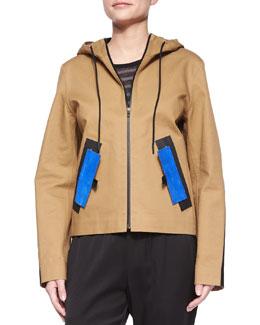 Water-Repellant Hooded Jacket