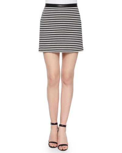 Twisted Striped Mini Skirt