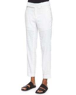 Solstice Linen-Blend Ankle Pants