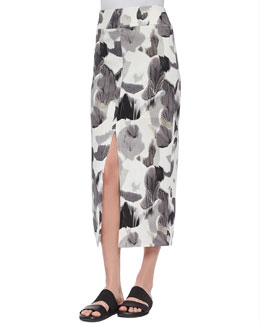 Crypsis-Print Jersey Skirt