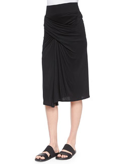 Entity Draped Jersey Skirt