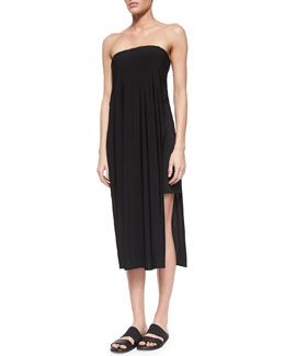 Faint Strapless Draped Dress