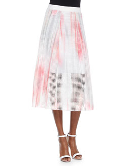 Bloom Eyelet Circle Skirt, Pink/Multicolor