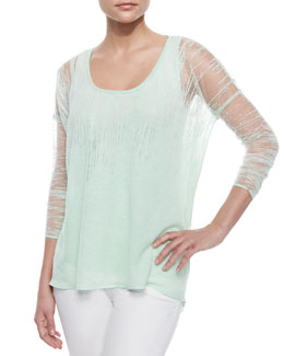 Sparkling Burnout Jersey Sweater