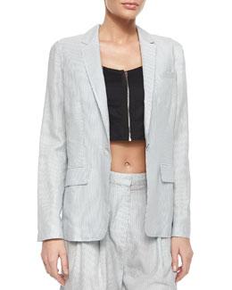Chatham Striped One-Button Blazer