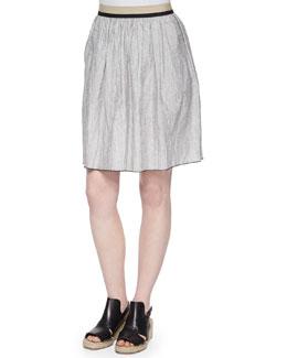 Svea Contrast-Trimmed Skirt
