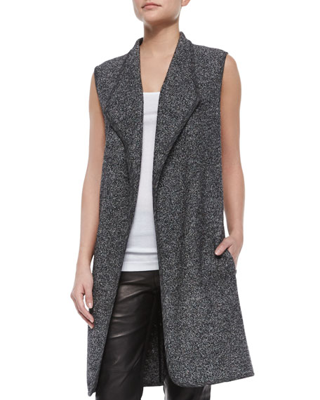 Asymmetric Mixed-Media Vest