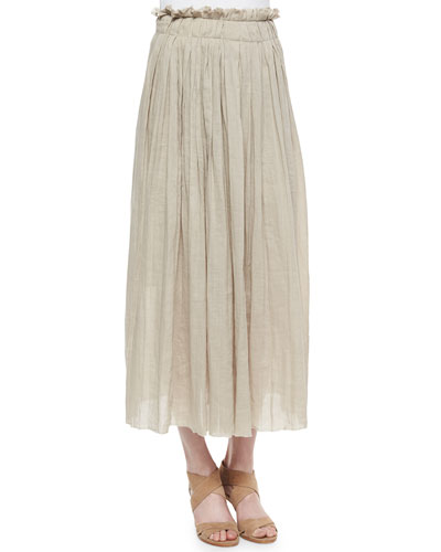Luna Pleated Maxi Skirt