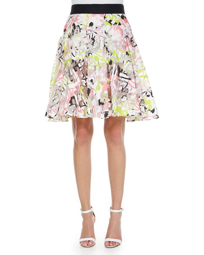 Surrealist Fil Coupe Skirt
