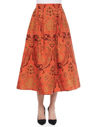 Luisa A-Line Midi Skirt