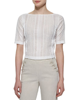 Littrelly Multi-Striped Knit Top