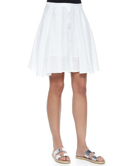 Keltrice Button-Down Pleated Skirt