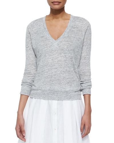 Dalphon Melange Linen Sweater