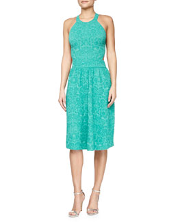 Sleeveless Mosaic Jacquard Dress