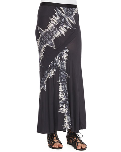 Marianne Printed Faux-Wrap Jersey Skirt