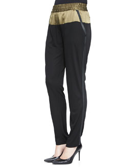 Colorblock Matte Jersey Slouchy Pants