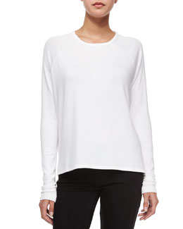 Camden Long-Sleeve Raglan Tee, Bright White