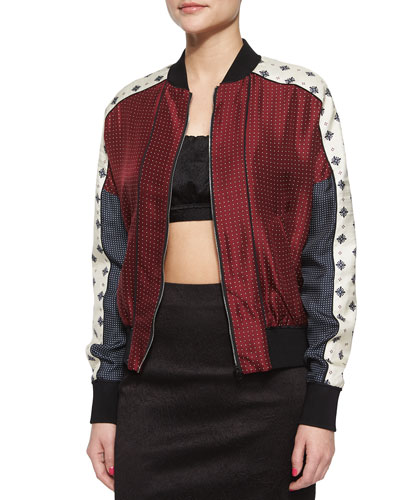 Greta Pattern-Block Jacket