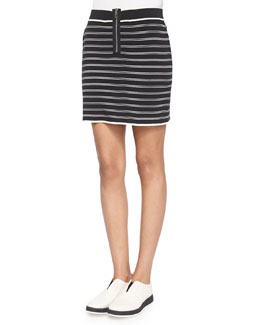 Regan Striped Pencil Skirt