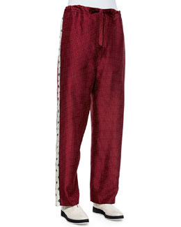 Rudy Drawstring Printed Pants