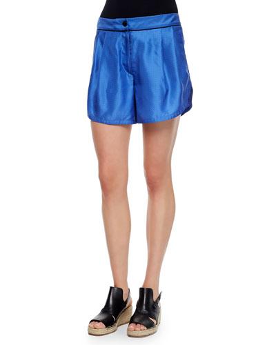 Gabrielle Silk Dot Shorts