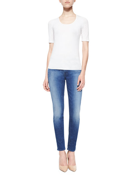 The Skinny Faded Jeans, Authentic Crisp Blue