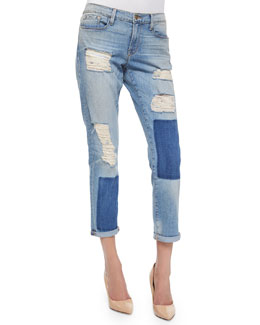 Le Garcon Distressed Ankle Jeans, Redlands