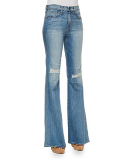 The Girl Crush Flare Jeans, Heirloom Repair