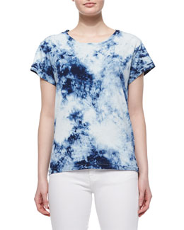 The Crew Neck Tee, Indigo Summer