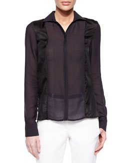 Long-Sleeve Paneled Shirt