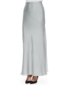 Woven Georgette Long Maxi Skirt