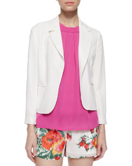 Isleta Sand-Washed Silk Blazer
