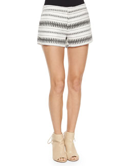 Merci Low-Rise Multi-Print Shorts