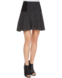 Shawna Drop-Waist Skirt, Gray Pattern