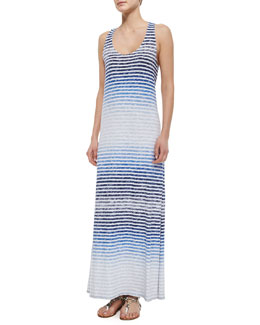 Ager Reverse-Printed Striped Maxi Dress