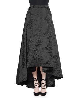 Cohen High-Low Jacquard Ball Skirt