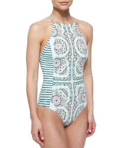 Montecito Seductress Printed One-Piece Swimsuit